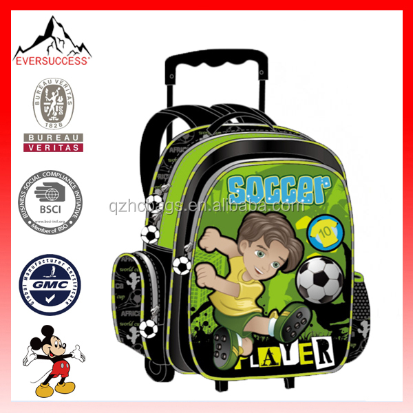 source new product solid school rolling kids trolley ba