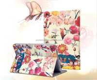 Spring birds and flowers Series Stand PU Leather case for ipad mini with holder CO-LTC-301