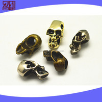 flat metal beads,gold plated brushed silver beads,metal skull beads