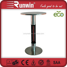 Wonderful !!15KW stainless steel base electric infrared heater with table
