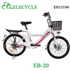 city electric bike lady electric bicycle 250W48V LED light chinese e-bike EB20