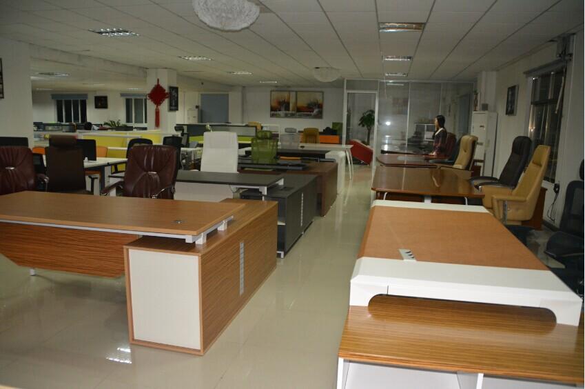 En forma de l escritorio ejecutivo moderno melamina oficina de ...