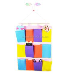 non woven hanging closet Kids Storage Collection 12 Bin Organizer Primary