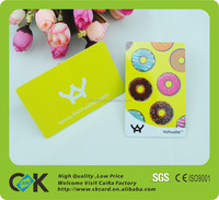 Custom shape and design plastic Visiting Card