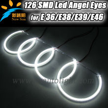 Para BMW E46 coche angel eyes faros proyectores, 4x131mm LED halo anillos para BMW E46, E36, E38, E39 bulbo
