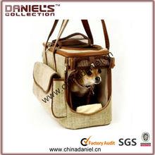 wholesale cheap fashion vintage linen toy pet carrier