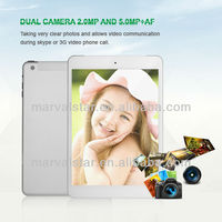 7.85 inch Quad Core wifi 3G WCDMA/GSM GPS and Bluetooth Good Voice tablet PC