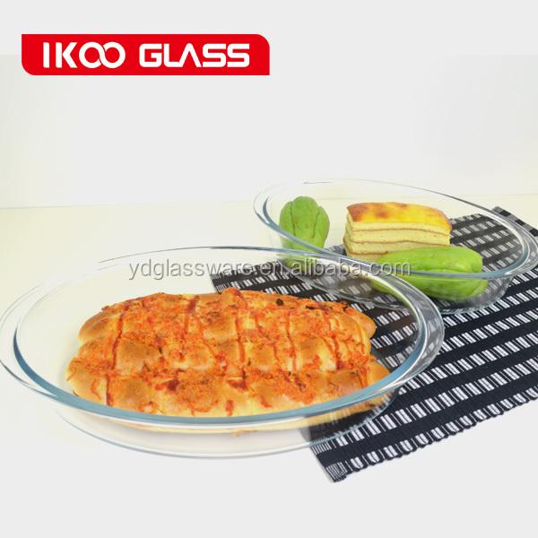 3.2l oval de alta qualidade de vidro de borosilicato placa/forno bandeja/tabuleiro/assadeira