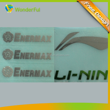 custom label type and electroformed technics metal label sticker