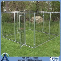 Germany hot sale or galvanized comfortable 10 x 10 dog kennels with top