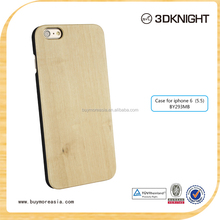 OEM wood phone case engraving wood for iphone 6 wood case cover