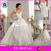 CE565 Sweetheart Floor Length White Tulle Wedding Dress With Detached Skirt