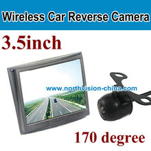 3.5 inch monitor wireless rearview camera system for cars