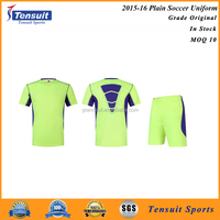 Custom embroidery logo design your own team football shirt high quality cheap soccer jerseys set
