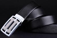 Leather belt wholesale men's slide buckle cow leather belt