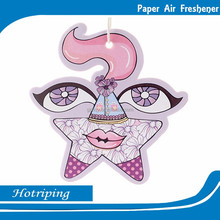 Best selling scented cotton paper hanging air freshener for car