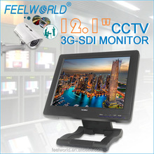 FEELWORLD 12.1 inch cctv lcd monitor with 3G SDI input and output
