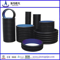 Good price !! corrugated pipe200mm-800mm ,hdpe pipe PE 100 ,corrug polyethylene double-wall pipe from China manufacturer 17years