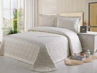 Plain design pure color 3 pcs elegant bedspread