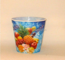 Rainbow customer design advertising 2oz mini pp cup, 3d water cup