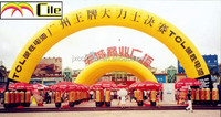 CILE 2014 latest custom yellow inflatable advertising arch