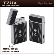 Best Unique electronic Jet Flame touch cigar torch lighter Reliable ignition With cigar cutter /punch