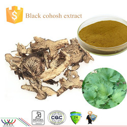 World-way natural high quality black cohosh extract with 2.5% Triterpenoid saponis test by HPLC