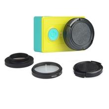 37mm Aluminum Alloy UV Lens Filter + Adapter Ring + Lens cap for Xiaomi Yi Action Camera accessories set