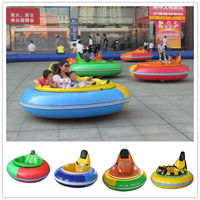 Amusement Park Kids Ride UFO Type Stainless Steel Inflatable Battery Middle Bumper Car , Vintage Dodgem Cars For Sale