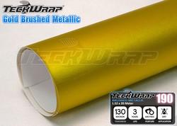 Golden Brushed Metallic chrome vinyl car wrap for Car wrapping