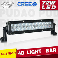 LED bar light off road 4x4 accessories lighting led light bar 13.5inch 72w CR.EE