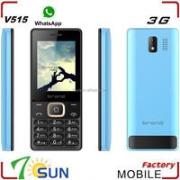hot sale 2.4 inch V515 3G latest slim bar mobile phones