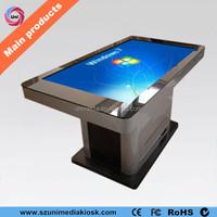 Indoor wifi waterproof IR touch screen floor stand HD interactive led table