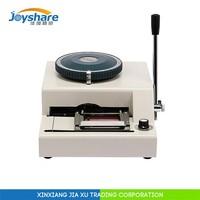 Manual plastic card embossing machine