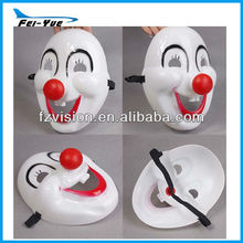 PVC Red Nose Carnival Party Clown Masks
