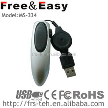 professional design very cool shape cheap wired finger mouse