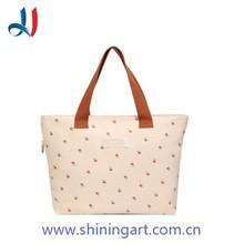 2015 new products OEM fashion designer floral printing ladies canvas shopping handbags
