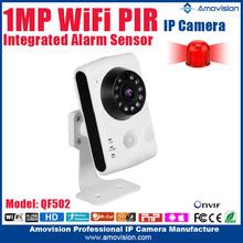 2015 shenzhen best price 720p wireless wifi H264. onvif PIR alarm doorbell ip camera with PIR sensor for wholesales