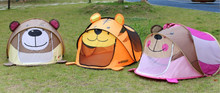 outdoor children animal tiger pop up play tent