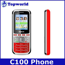 C100 mobile phone 1.8 inch Screen phone Dual Sim card