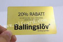 Branded designer stainless steel warranty card
