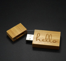 bulk wooden USB flash drive,new style wood usb with box,Natural wood USB key