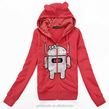 100 cotton womens hoodies white crewneck plain sweatshirts