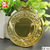 Blank medals plating gold silver bronze with sticker