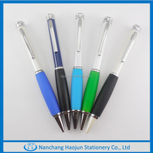 2015 promotional rubber grip Metal Ball Pen with softt Rubber material made in china