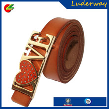 Wholesale vintage metal studs leather strap belts with metal tip