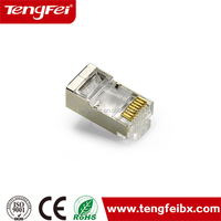 "CAT6A FTP cat6a rj45 connector with loading bar 50u"" Modular Plug"