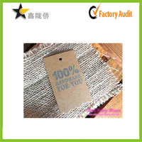 China supplier wholesale custom cheap fine clothing used 100% hand made paper hand tag, Kraft paper tag, clothing tag