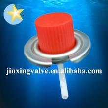 gas stove valve and red caps/portable gas cooker valve/butane gas cartridge spray valve