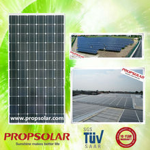 Propsolar TUV, ISO, CE certificated black monocrystalline solar panel 300w